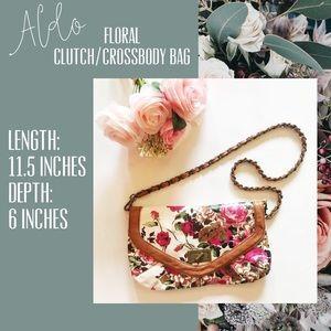 Aldo Floral Clutch/Crossbody Purse
